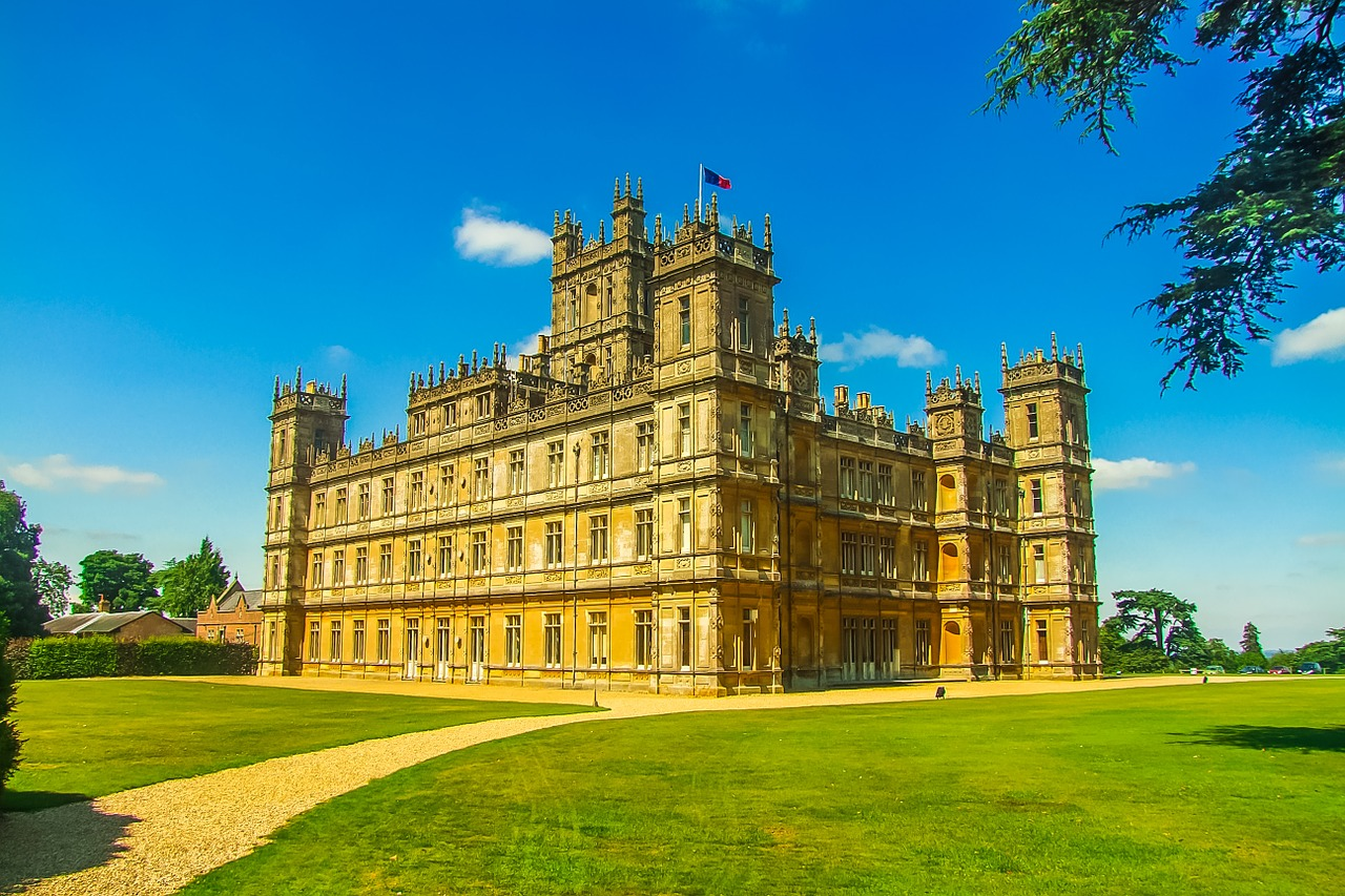 Highclere Castle made famous by the filming of Downton Abbey